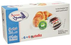 Al Faysal 6 Plain Croissant + 6 Nutella Pack