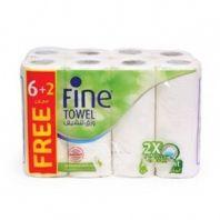 Fine Collect Kitchen Towel 6+2 Rolls