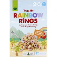 Woolworths Yummy Rainbow Rings Cereal