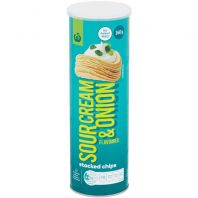 Woolworths Sour Cream Onion Stacked Chips
