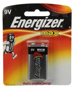 Energizer Max Alkaline D 9V Battery