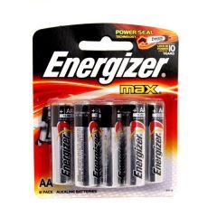 Energizer Max AA Alkaline Batteries 8Pcs |sultan-center.comمركز سلطان اونلاين