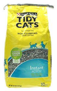 Purina Tidy Cats Instant Action Non Clumping Clay Litter For Cats  4.54Kg |?sultan-center.com????? ????? ???????