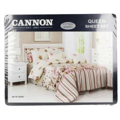 Cannon Queen Size Fitted Sheet Set