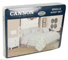 Cannon Twin Size Parcle Fitted Bed Sheet Set