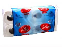 Sultan Extra Soft 2 Ply Toilet Paper Tissue Roll  250Sheets X 8Rolls |?sultan-center.com????? ????? ???????