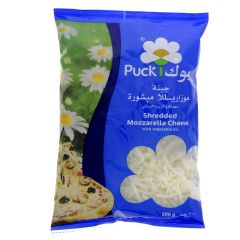 Puck Shredded Mozzarella Cheese With Vegetable Oil  200G |sultan-center.comمركز سلطان اونلاين