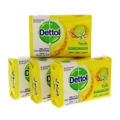 Dettol Anti Bacterial Fresh Bar Soap 3+1 Free