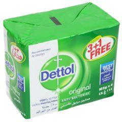 Dettol Original Anti Bacterial Soap 165g x 4pcs |sultan-center.comمركز سلطان اونلاين