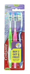 Colgate Zig Zag Medium Toothbrush  2+1Free |?sultan-center.com????? ????? ???????