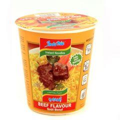 Indomie Beef Flavoured Instant Cup Noodles 60G |?sultan-center.com????? ????? ???????