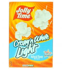 Jolly Time Crispy in White Light Natural Flavor Microwave Popcorn  255G 3Pcs |?sultan-center.com????? ????? ???????