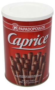 Papadopoulos Caprice Hazelnut & Cocoa Cream Wafer Stick