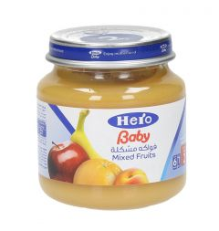Hero Baby Food Mixed Fruits  130G |?sultan-center.com????? ????? ???????