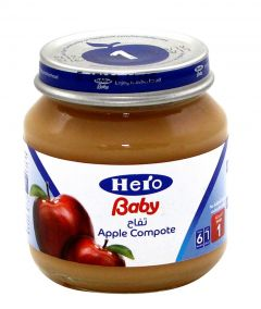 Hero Baby Apple Compote Jar 130G |?sultan-center.com????? ????? ???????