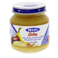Hero Baby Mixed Fruit With Cereals  130G |?sultan-center.com????? ????? ???????