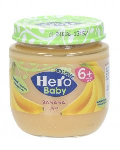 Hero Baby Food Jar Banana 130G |?sultan-center.com????? ????? ???????