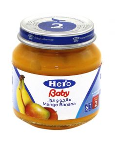 Hero Baby Mango Banana Jar 130G |?sultan-center.com????? ????? ???????