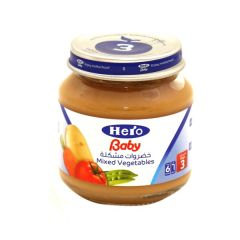 Hero Baby Food Jar Mixed Vegetables  130G |?sultan-center.com????? ????? ???????