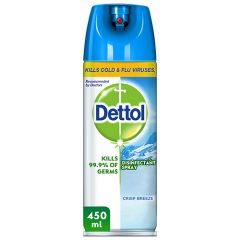 Dettol Anti-Bacterial Kills Cold And Flu Virus Disinfectant Spray