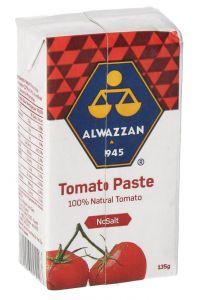 Alwazzan 100% Natural Tomato Paste  135g  sultan-center.comمركز سلطان اونلاين