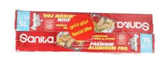 Sanita Premium Aluminum Foil 75 sq.ft x 2pcs | sultan-center.com مركز سلطان اونلاين