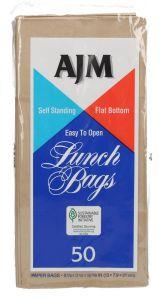 Ajm Lunch Paper Bags  50pcs |sultan-center.comمركز سلطان اونلاين