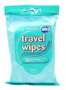 Big D Resealable Original Travel Wipes Moist Tissue   20Pcs |?sultan-center.com????? ????? ???????