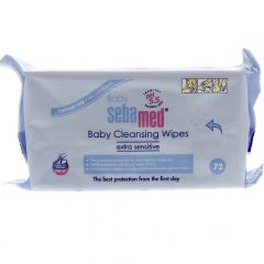 Seba Med Baby Cleansing Wipes Extra Sensitive 72Pcs |?sultan-center.com????? ????? ???????