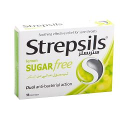 Strepsils Sugar Free Lemon Lozenges  16Pcs |?sultan-center.com????? ????? ???????