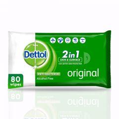 Dettol Anti-Bacterial Wipes 80Pcs  sultan-center.comمركز سلطان اونلاين