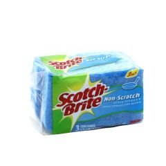 Scotch-Brite  Non-Scratch Scrub Sponge  3Pcs |?sultan-center.com????? ????? ???????