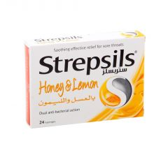 Strepsils Honey & Lemon Lozenges  24Pcs |?sultan-center.com????? ????? ???????