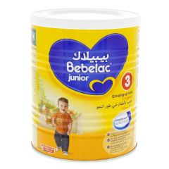 Bebelac Junior 3 Growing Up Formula 1-3 Years Vanilla Powder Milk  400g |?sultan-center.com????? ????? ???????