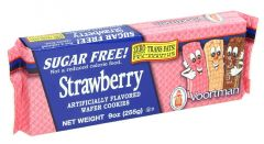 Voortman Sugar Free Strawberry Wafer Cookies  255G |?sultan-center.com????? ????? ???????