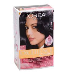 L'Oreal Paris Excellence Creme 1 Black Hair Color 1Pc |sultan-center.comمركز سلطان اونلاين