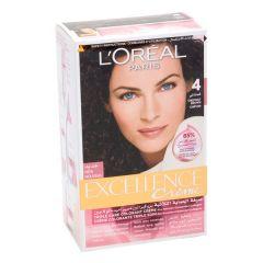 L'Oreal Paris Excellence Creme 4 Chestnut Brown Hair Color 1Pc |sultan-center.comمركز سلطان اونلاين