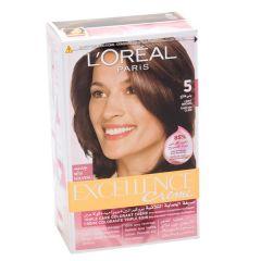 L'Oreal Paris Excellence Creme 5 Light Brown Hair Color 1Pc |sultan-center.comمركز سلطان اونلاين