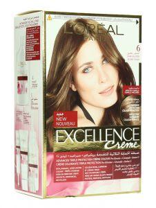 L'Oreal Paris Excellence Creme 6 Dark Blonde Hair Color 1Pc |sultan-center.comمركز سلطان اونلاين