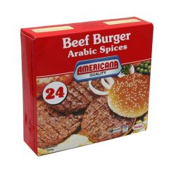 Americana Beef Burgers with Arabic Spices