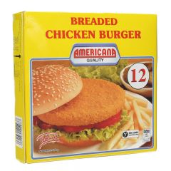 Americana Breaded Chicken Burger 12PCS 678G |?sultan-center.com????? ????? ???????