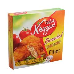 Khazan Breaded Chicken Fillet 500G | sultan-center.com مركز سلطان اونلاين