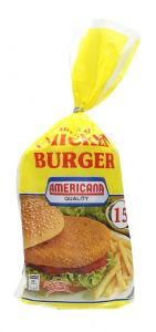 Americana Breaded Chicken Burger 15 Pcs  840G |?sultan-center.com????? ????? ???????