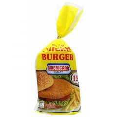 Americana Breaded Chicken Burger 15 Pcs  840G |sultan-center.comمركز سلطان اونلاين