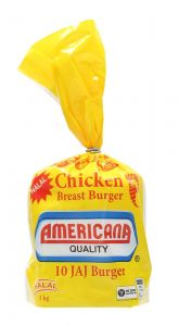 Americana Chicken Breast Burger 10 Pcs 1Kg |sultan-center.comمركز سلطان اونلاين