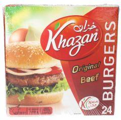 Khazan Original Beef Burgers 24Pcs 1.2kg  ?sultan-center.com????? ????? ???????