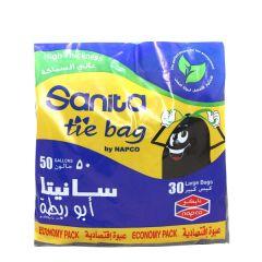 Sanita Napco Large Tie Garbage Bags 50Gl X 30Pcs |?sultan-center.com????? ????? ???????
