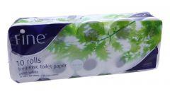 Fine Pure White Hygienic Toilet Paper Rolls   10Pcs |?sultan-center.com????? ????? ???????