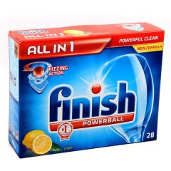 Finish Lemon Fizzing Action Powerball Dishwasher Tablets  28Pcs |?sultan-center.com????? ????? ???????