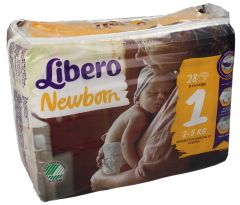 Libero Baby Soft Diapers Size 1 2-5KG